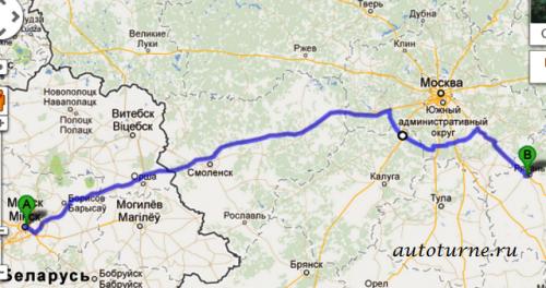 Минск Рязань маршрут 4 по А108