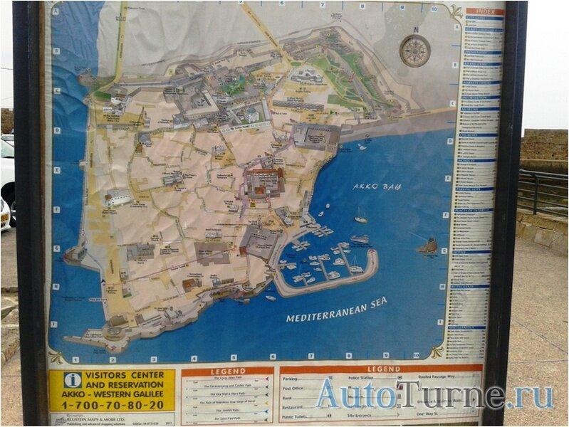 Карта Акко